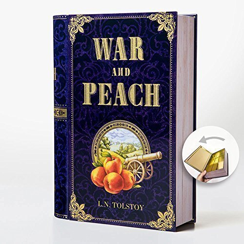 Novel Teas Collectible Classic Novels Metal Tin Set. Vintage Tins Gift for Book Lovers and Librarians. Unique Gift for Christmas. (Tin Only, War and Peach) (British Tea Canister compare prices)