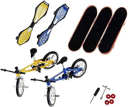 Youtaimei Mini Skateboard Kits de Cubierta técnica, Bicicleta y patineta for Bicicletas de Dedo, Regalos for niños con Ruedas for niños, Paquete de 8 Producto satisfactorio: Amazon.es: Hogar