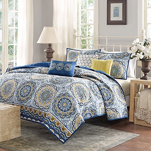 yellow and blue bedding - 8