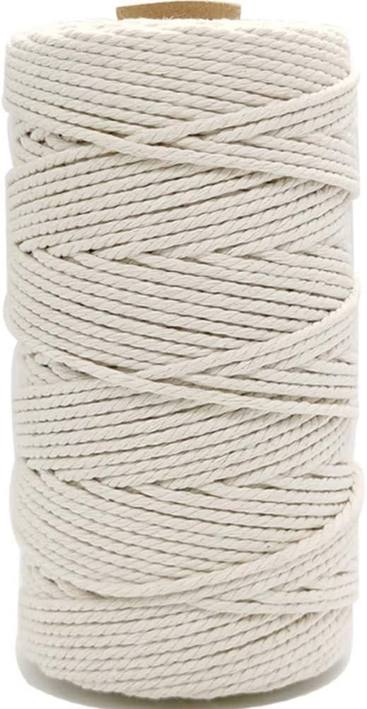 Enhigh - Cordón de macramé de 3 mm x 100 m, Cuerda de algodón para ...