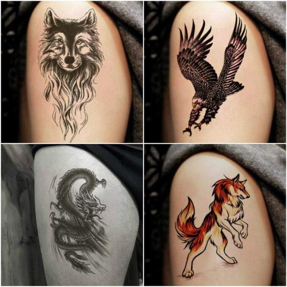 Etiqueta engomada del tatuaje Impermeable Flor masculina Brazo Simulación Dragón Tigre Tatuaje Pintura corporal Etiqueta engomada del tatuaje Conjunto de 10: Amazon.es: Belleza