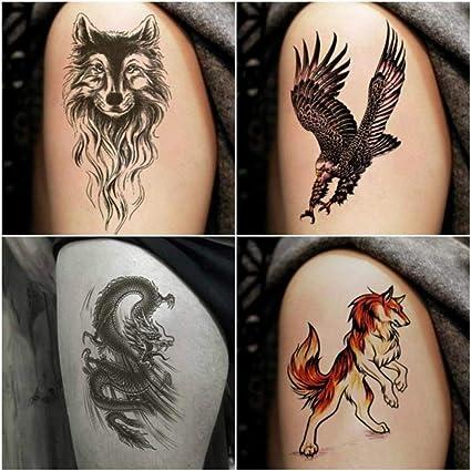 Etiqueta engomada del tatuaje Impermeable Flor masculina Brazo ...