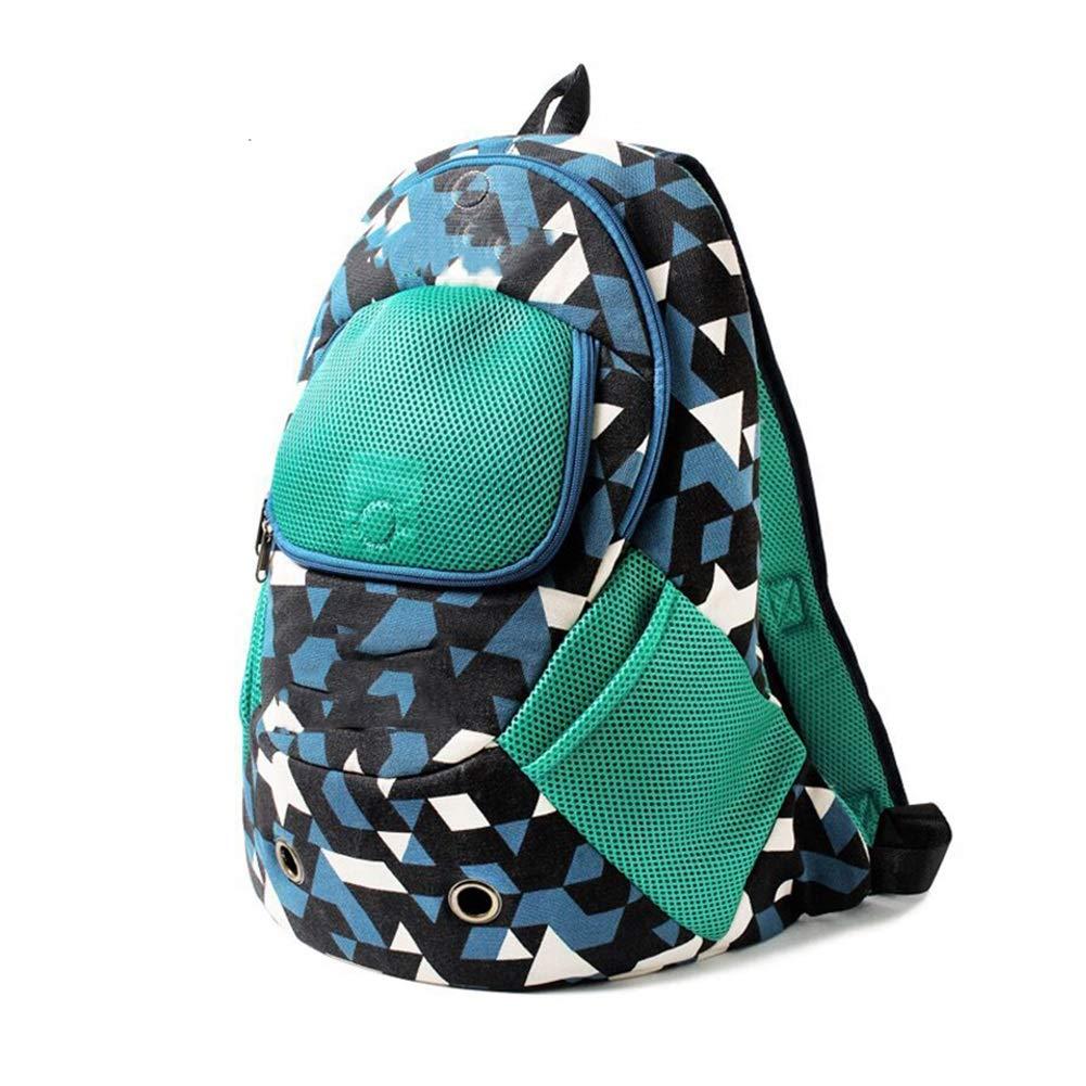 Black(M) Pet Backpack, Dog Cat Backpack Carrier Breathable Pet Double Shoulders Fashion Bag for Outdoor Travelling (33cm  15cm  42cm) (color   Black(M))