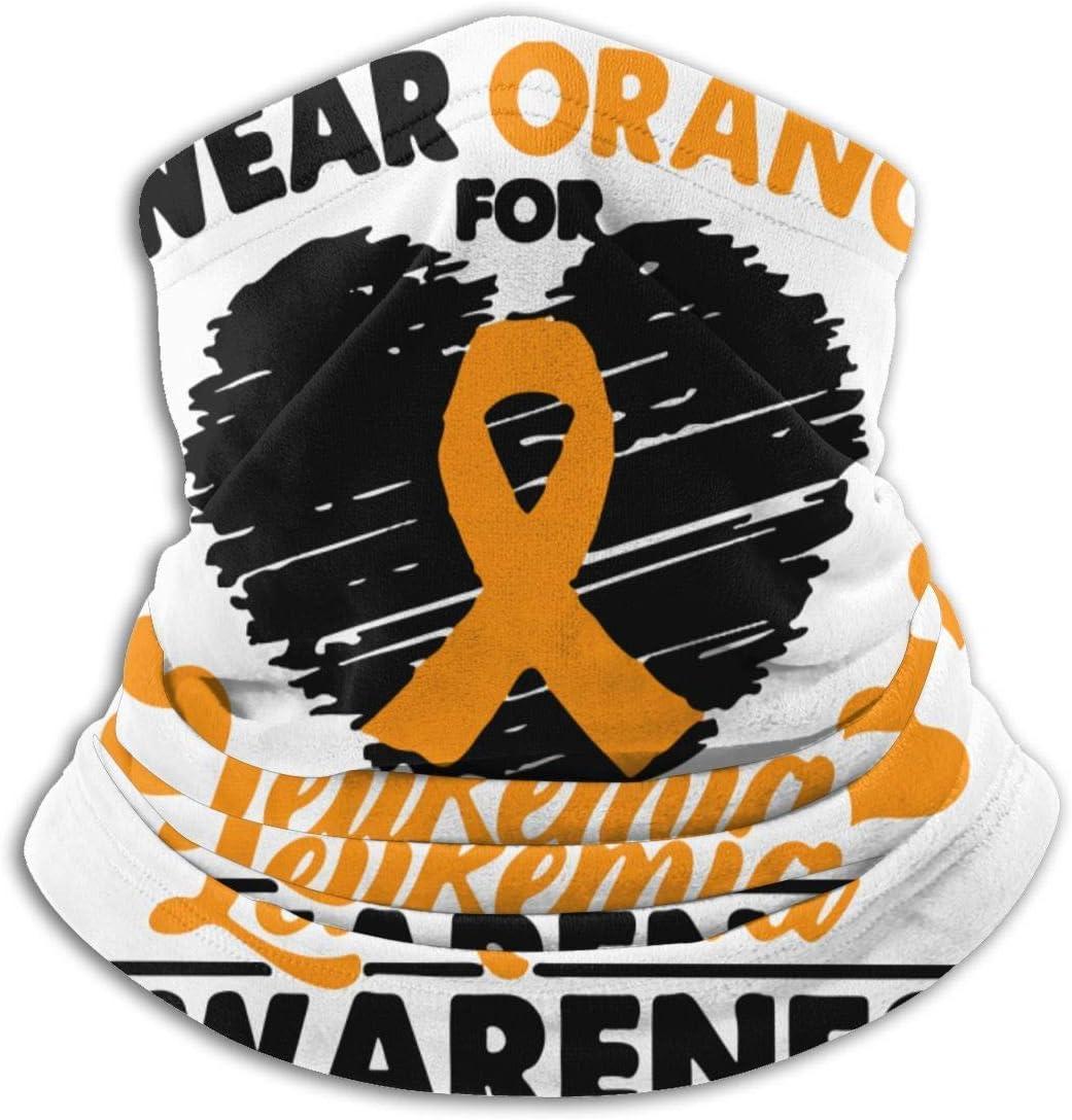 Yuanmeiju Mascarilla de protección multifuncional, uso naranja, leucemia, cáncer, Awaren, Bandana, microfibra, calentador de cuello, bufanda, polaina