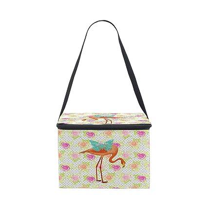 0be125a21f13 Amazon.com: D.Sword Enthusiasm Flamingo Lunch Bags for Women Men ...