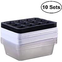 ounona 10unidades bandejas para la Semillas para plantar