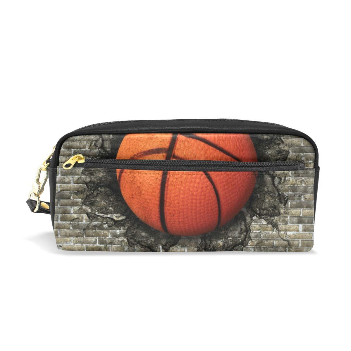 LUPINZ - Estuche de piel con diseño de balón de baloncesto: Amazon ...