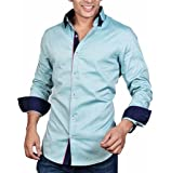 Dazzio Men's Slim Fit Cotton Casual Shirt (Please Refer Size Chart)