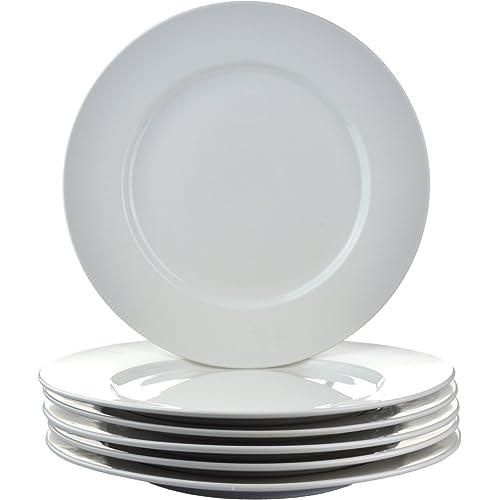 "Argon Tableware Wide Rimmed Plates - 26.5cm (10.5"") - Box of 6"
