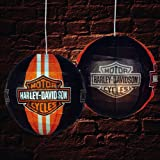 Pack of 3 Black Harley Davidson Chinese Paper Lantern