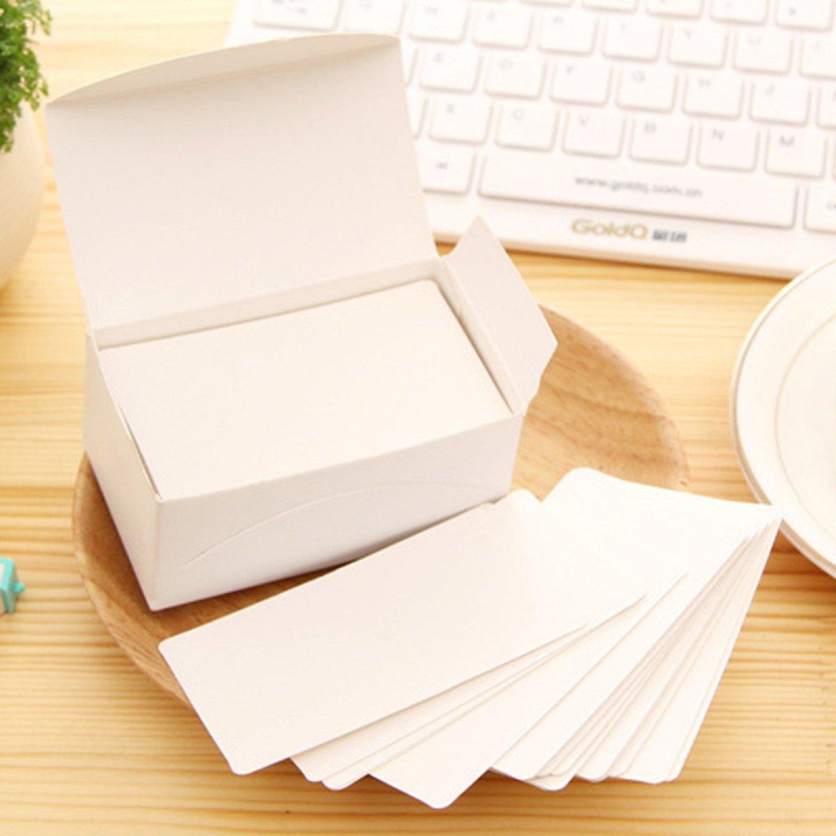 Carte di messaggio vuoto Kraft carte 8.8*5.2cm per DIY Gift card memo prezzo tag (confezione da 100fogli) dDanke