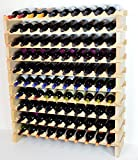 Modular Wine Rack Beechwood 40-120 Bottle Capacity 10 Bottles Across up to 12 Rows Newest Improved Model (100 Bottle – 10 Rows) Review