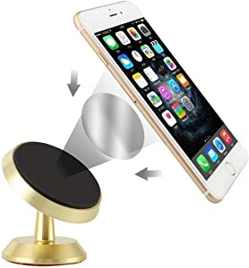 Magnetic Phone Car Mount - Cell Phone Holder,Phone Stand,Phone Mount.360 Rotation Fit for iPhone Xs Max XR X 8 Plus 7 Plus 6 Samsung Galaxy S10 S10+ S10e S9 S7 S8 LG All Smartphones