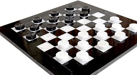 Radicaln Juego de ajedrez de Damas 12 Pulgadas Blanco y Negro ...