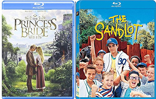 Sandlot + Princess Bride Blu-ray Collection 2 Kid Movie Bundle Set