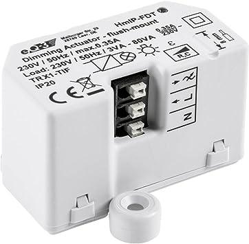 Homematic IP 150609A0 Smart Home-Enchufe con regulador Regular la Intensidad y Encendido Apagado de Bombillas Regulables, máx. Potencia de ruptura: 80 ...