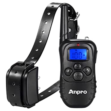 Anpro DC-36 330 yd. Rechargeable Remote Dog Training Collar with Beep, Vibration and Shock for 15 to 100 lbs. Breed Dog Vibration/Shock Electronic Electric Collar