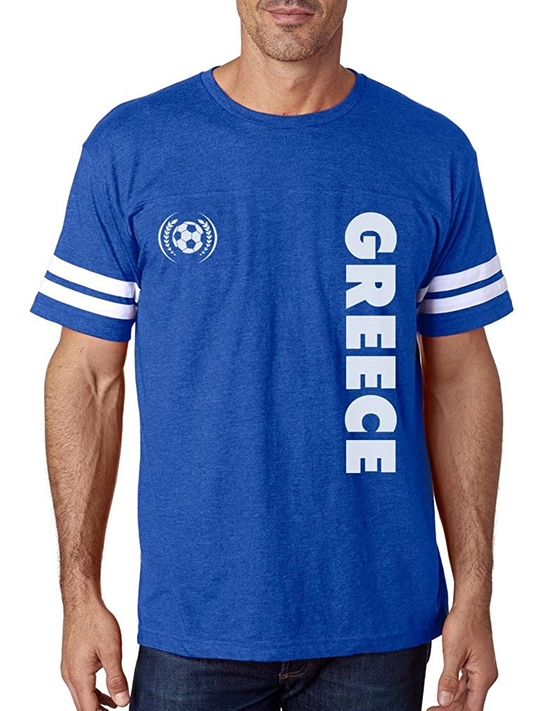 finest selection faef3 d2d17 Tstars - Greece National Football Team Soccer Fans Football Jersey T-Shirt