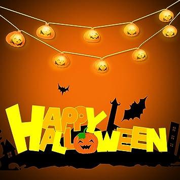 halloween pumpkin string lights 3d jack o lantern pumpkin 16 led lights 10ft battery - Halloween Pumpkin Lights