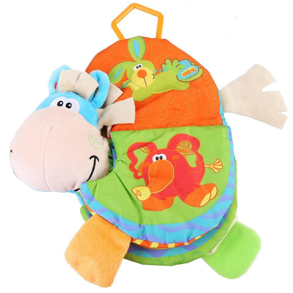 Zerodis Juguetes de mordedor para bebés Cute Animal Libro de tela para niños pequeños que aprenden el regalo de educación temprana