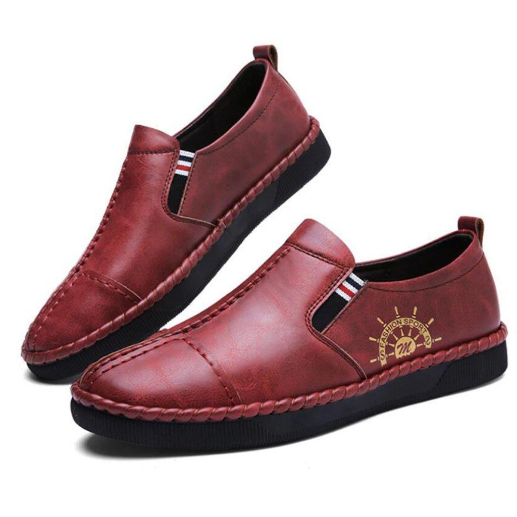 GAOLIXIA Zapatos de conducción de los hombres Zapatos ocasionales de primavera Zapatos de guisantes Zapatos perezosos Zapatos deportivos de moda (Color : Red brown, tamaño : 40) 40|Red brown