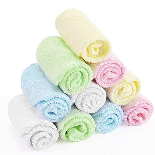 Amazon.com: YOOFOSS Luxury Bamboo Washcloth Towel Set 10 Pack for Bathroom-Hotel-Spa-Kitchen Multi-Purpose Fingertip Towels & Face Cloths 10 x 10: Home ...