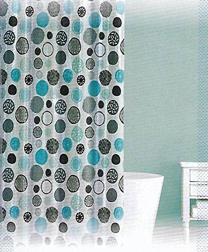 Amazon.com: Splash Home Spek Peva Shower Curtain 70 x 72 Inches Aqua ...