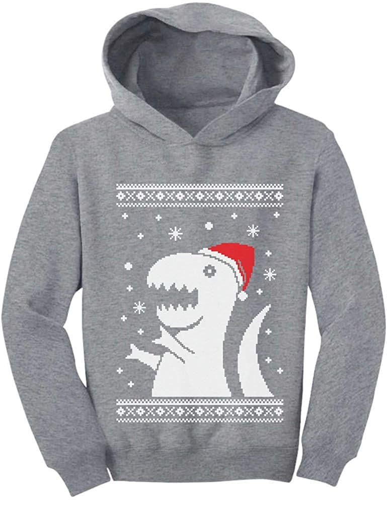 TeeStars - Ugly Christmas Sweater Big T-rex Santa kids toddlerToddler Hoodie GM0MlMgvm