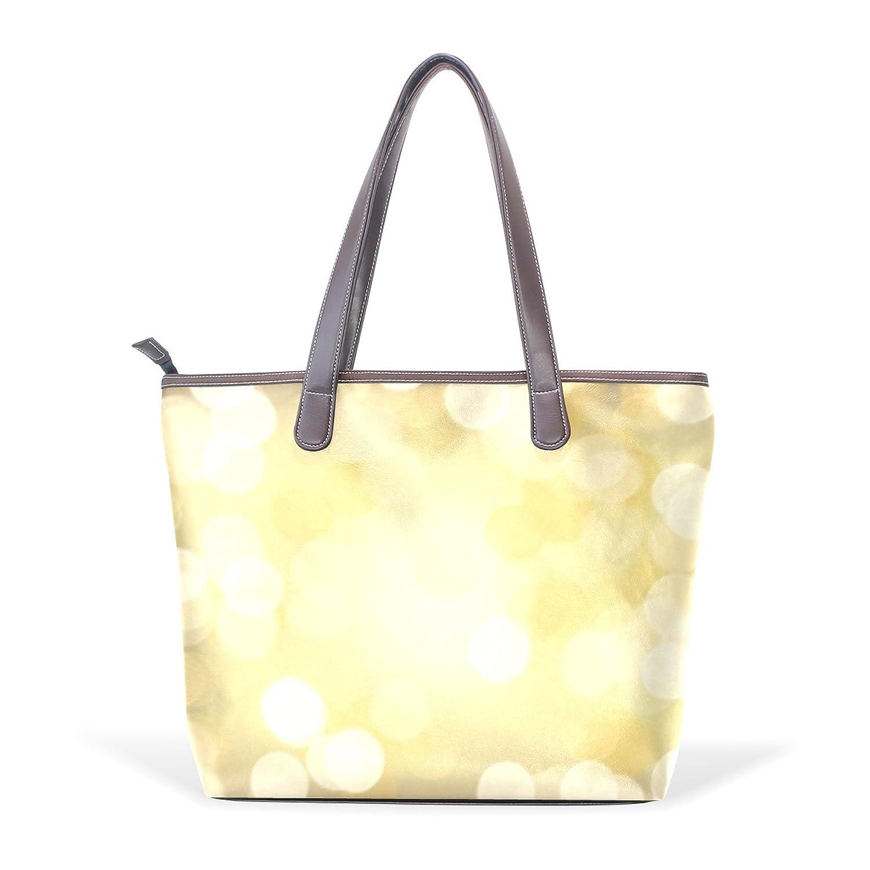 WDYSECRET Glittery Women's Pu Leather Handbag Shoulder Bag Zipper Shopping Bag