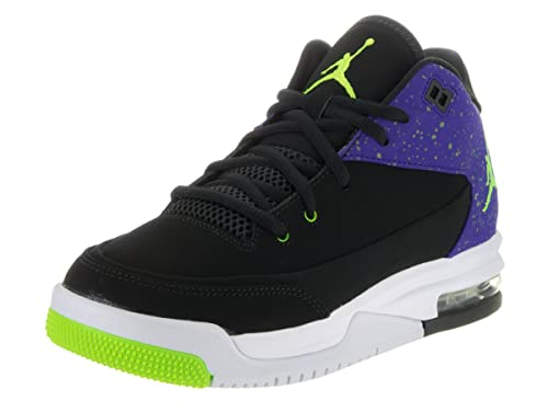 Amazon.com | Jordan Nike Kids Flight Origin 3 Bg Black/Electric Green Concord Basketball Shoe 4 Kids US | Basketball