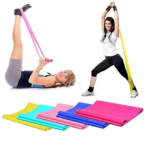 Qewmsg 1.2 m Elastic Yoga Pilates Goma Estiramiento ...