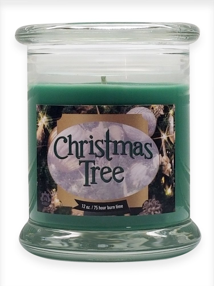 Christmas Tree Natural Scented Soy Wax 12oz Candle ~ Aromatherapy Soy Candles Burn Longer ~ Non-Toxic ~ 100% Yinzer Made in USA ~ Gift For Special Occasions ~ S&M Web Widgets