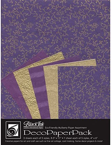 8.5 by 11-Inch Blue Storm Black Ink Decorative Paper Pack