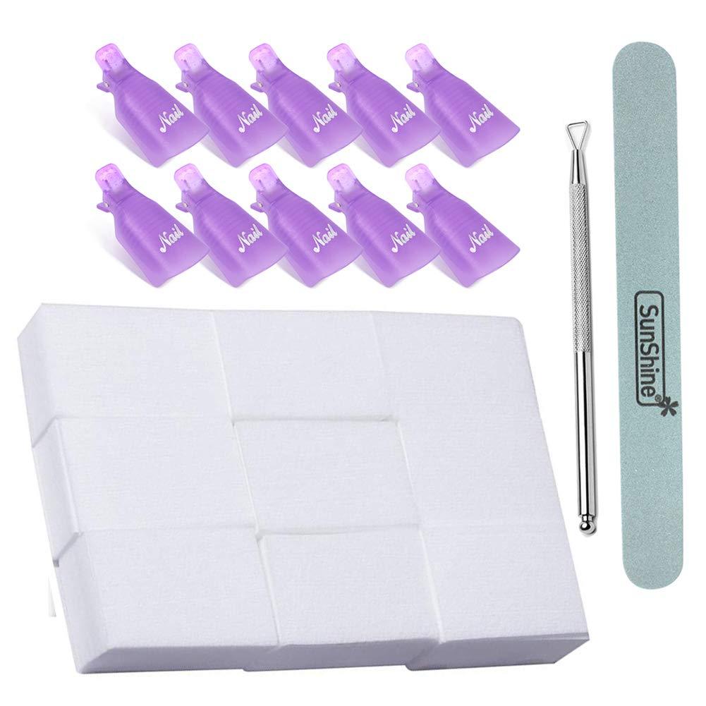 Amazon.com: Kit removedor de esmalte de uñas de gel ...