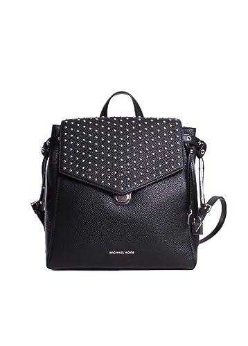 Michael Kors Bristol Leather Studded Medium Backpack in Black