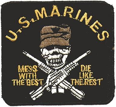 Parche – U.S. Marines – Talla 8 cm x 7 cm (03093) Stick parches bordados Emblema – Military Militar Ejército Army Ejército Bundeswehr Marino: Amazon.es: Ropa y accesorios