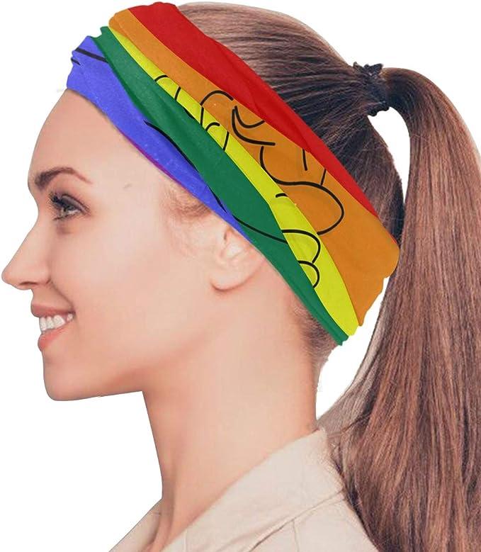 CPYang Rainbow LGBT Pride Bandana Neck Scarf Gaiter Face Dust Mask Multifunctional Headbands Hairband for Sports Yoga Running Cycling Hiking