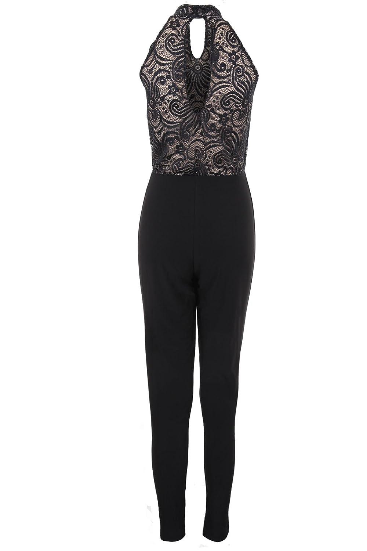 Ladies Strappy Sleeveless Stretch Lurex Sparkle Glitter Party Women/'s Jumpsuit