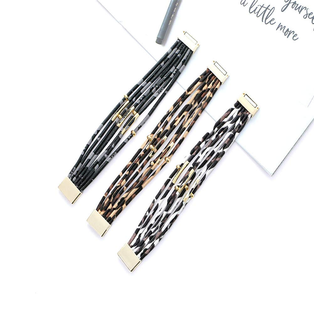 Amazon.com: BBL - Pulsera de piel de leopardo para mujer ...