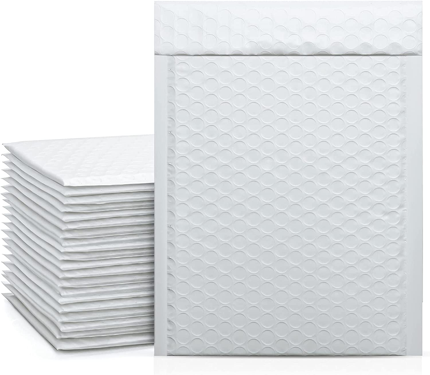 Metronic 50Pcs Poly Bubble Mailers, 6X10 Inch Padded Envelopes Bulk #0, Bubble Lined Wrap Polymailer Bags for Shipping/ Packaging/ Mailing Self Seal -White : Office Products