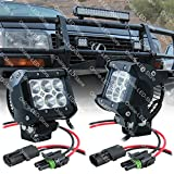 """LAMPHUS CRUIZER 4"""" 18W CREE LED Off Road Power Sports ATV Bike Head Light Lamp (OTHER SIZES AVAILABLE) - Flood (2 Units)"""
