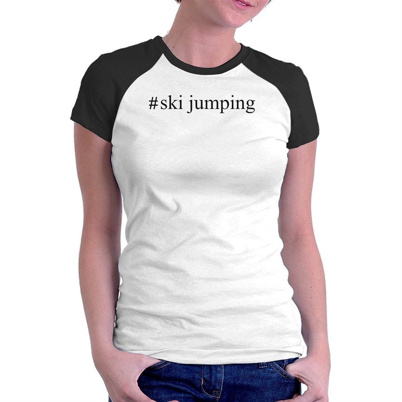 #Ski Jumping Hashtag Raglan Damen T-Shirt