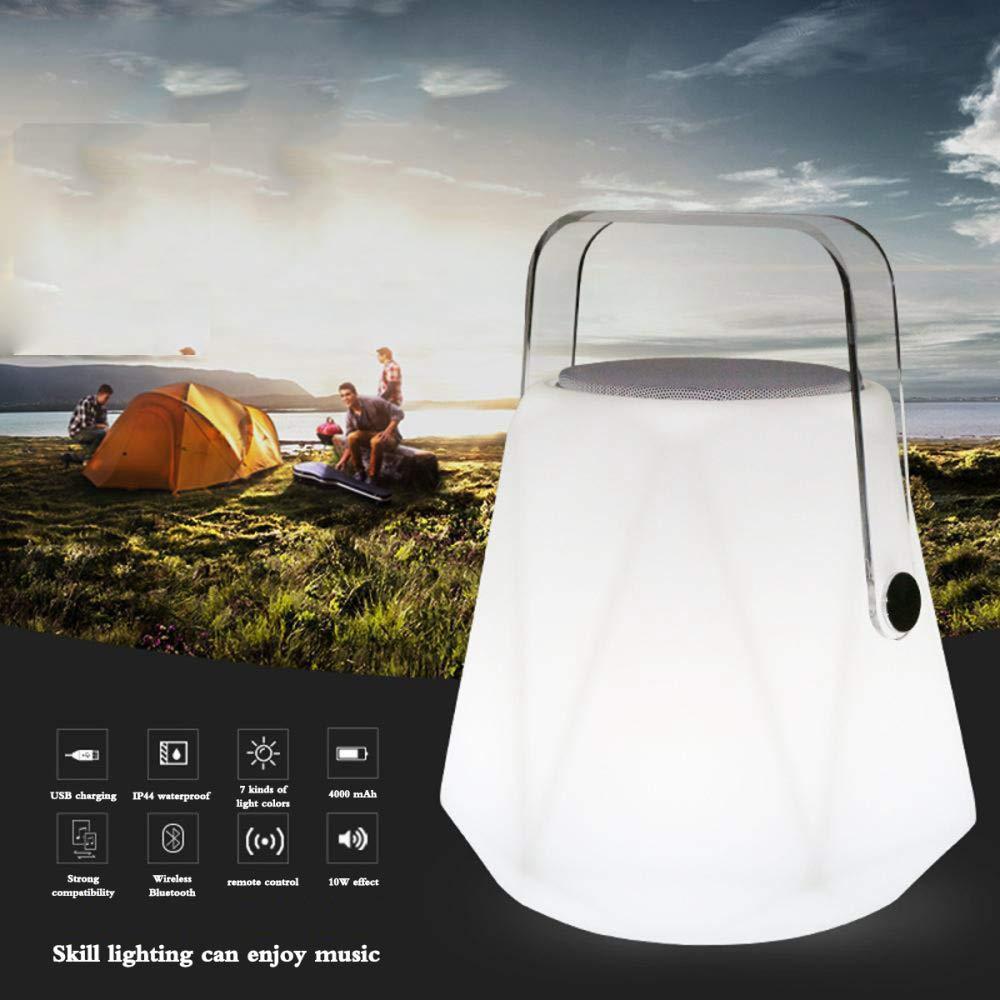 TUWEN LED Blautooth Wiederaufladbare Lautsprecher Leuchten Outdoor-Camping Audio Lichter Wiederaufladbare Blautooth Tragbare Camping Lichter AtmosphäRe Camp Zelt Lichter 0e6b6e