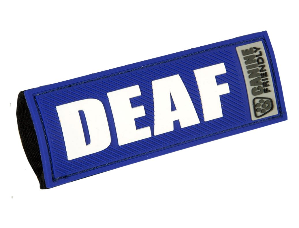 Canine Friendly 3/4 Bark Notes 'Deaf' Patch for Collar or Leash