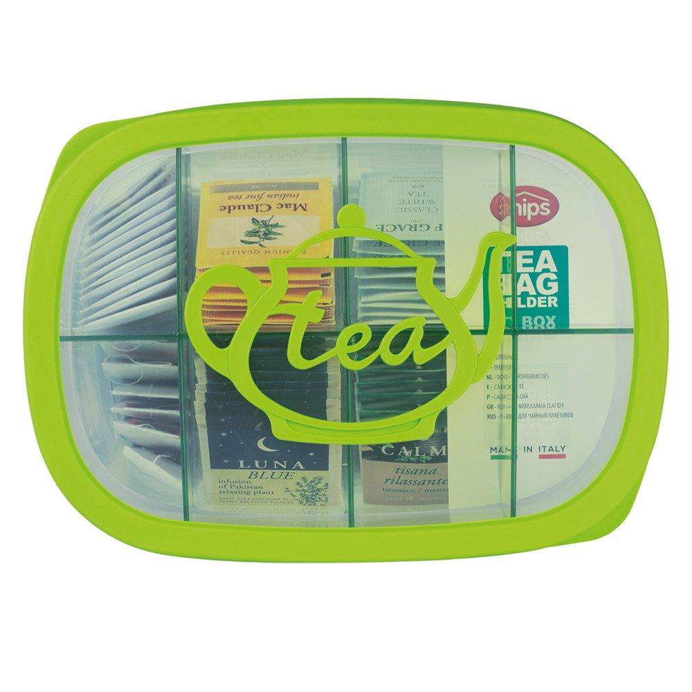 Snips Tea Bag Storage Holder,Green