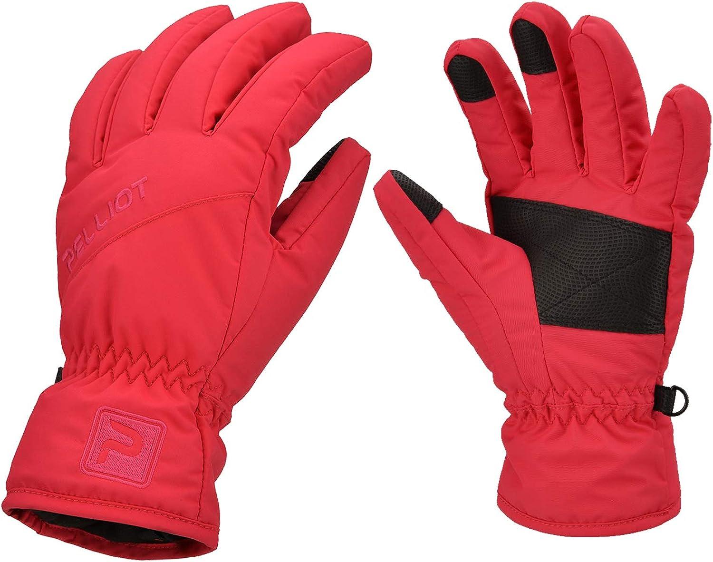 BECCYYLY Glovesmen Women Ski Gloves Touchscreen Gloves Windproof Sports Gloves with Thin Fleece Lining Winter Warm