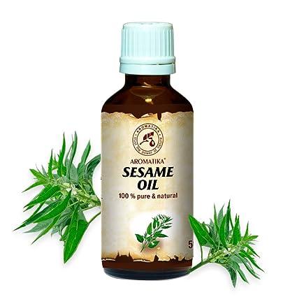 Aceite de Sésamo 50ml - Sesamum Indicum - México - 100% Puro y Natural -