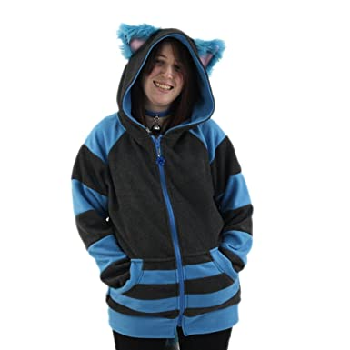 49f24ea60 Pawstar Cheshire Cat Mew Kitty Eared Hoodie Jacket Adult Unisex - Small  Alternate