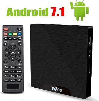 Android 7.1 Smart TV Box – Viden W95 2018 nueva generación Android TV Box con Amlogic S905W 64Bits Quad-Core, 1GB+8GB, WiFi integrado, salida HDMI, USB2, 4K UHD Web TV Box: Amazon.es: Electrónica