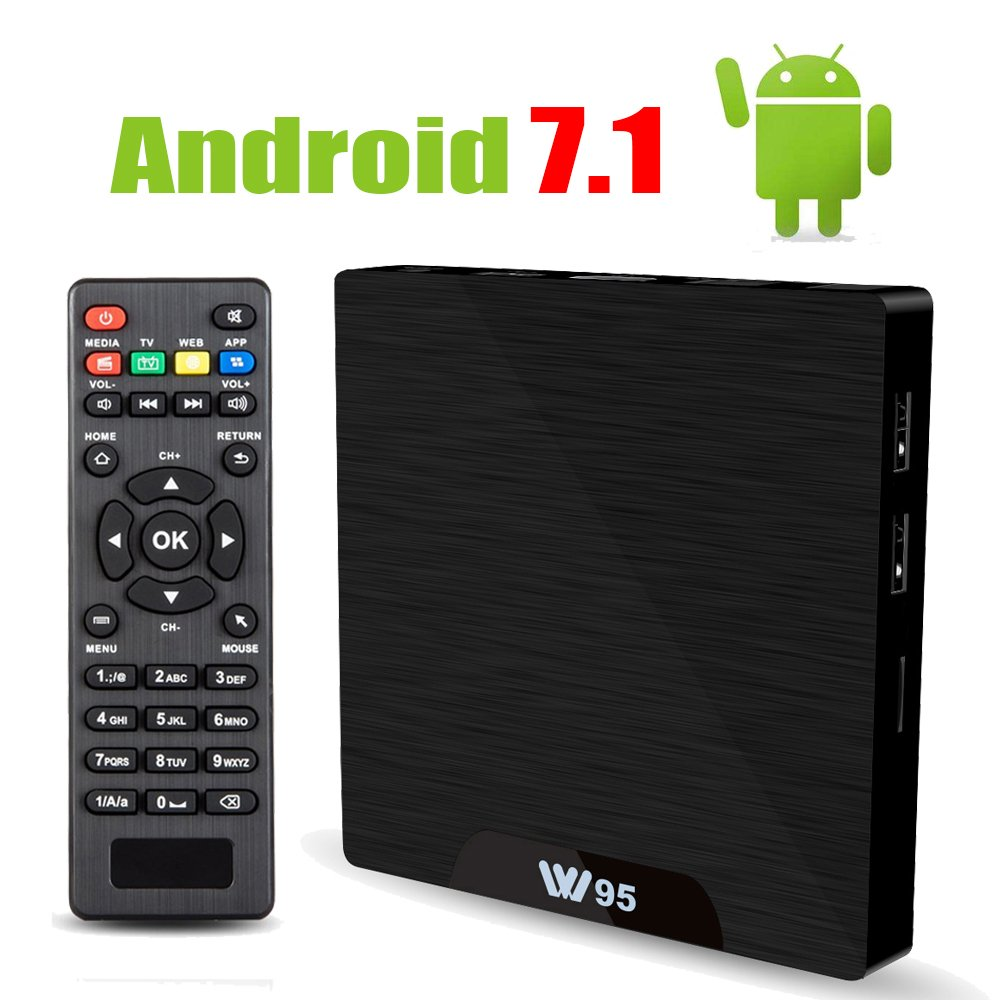 Android 7.1 Smart TV Box - Viden W95 2018 New Generation Android TV Box with Amlogic S905W 64Bits Quad-Core, 1GB+8GB, Built-in Wi-Fi, HDMI Output, USB2, 4K UHD Web TV Box